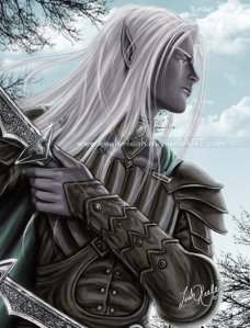 Drizzt_flees_the_Hunter_by_keelerleah