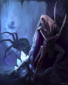 In_the_Cave___Drizzt_Do__Urden_by_CG_Warrior